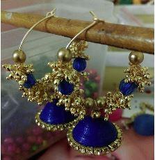 Loreial  Hoop Jhumka(Blue)