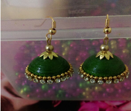 Single Jhumka(Dark Green)