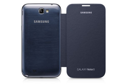 For Samsung Galaxy Note 2 II N7100, Dark Blue Mobile Phone Case Cover, Flip Housing Cover