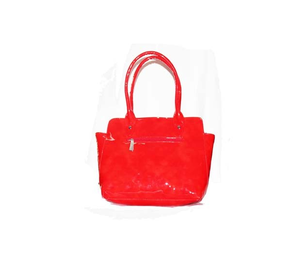 Red Glossy Hand Bag
