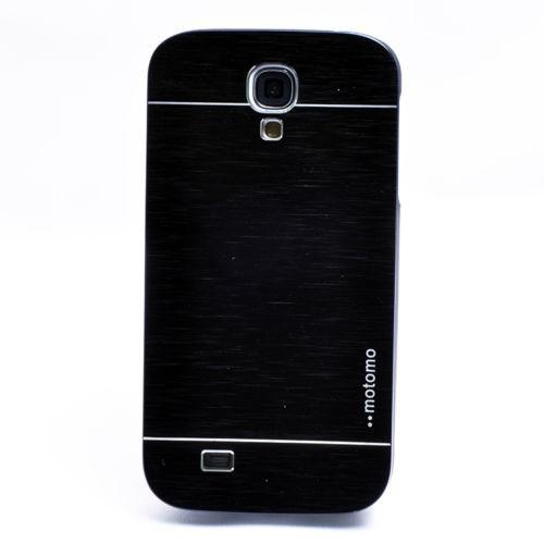 For Samsung Galaxy S5 I9600, Black Mobile Case Cover, Motomo Hard Metal Phone Case Cover