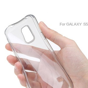 For Samsung Galaxy S5 I9600, Clear Transparent TPU Mobile case cover